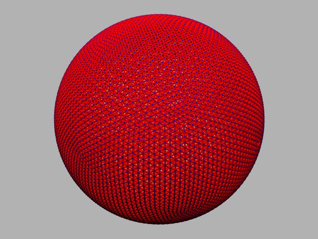 25 frequency Geodesic sphere.