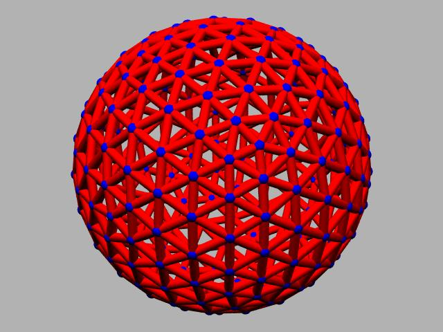 5 frequency Geodesic sphere.